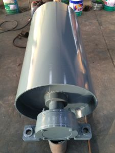 Под действием электропривода барабана ремень шкива головки блока цилиндров привода транспортера, шкива барабана