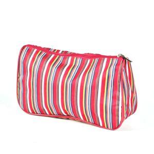 Mode d'embrayage fourre-tout Lady Handbag Stripe Pochette Sac cosmétique de cas de maquillage