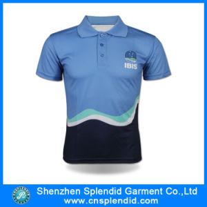 Modo Polyester Sublimation Color Combination Polo Shirt per Men