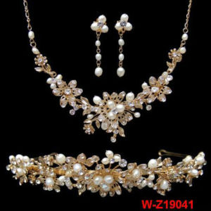 De zilveren & Gouden Armband van de Rek van de Bundel van het Bergkristal van het Huwelijk Multi
