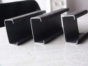 Galvanizado en frío y negro doble perfil de canal de acero estructural C