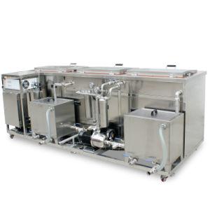 Doppi serbatoi potenti 2000L che lavano il pulitore industriale ultrasonico su ordine di ribollimento di pulizia dello spruzzo della risciacquatura
