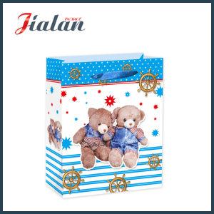 주문 도매 사랑스러운 곰에 의하여 인쇄되는 물색 운반대 선물 종이 봉지