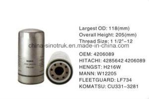 Ursprüngliches Qualitätsschmierölfilter Soem 4285642 für Hitachi