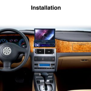 Tela digital de 7, aluguer de DVD de navegação GPS para rádio FM/AM Carro Universal com o cartão do mapa