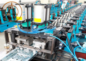 생산 기계를 형성하는 자동적인 바다 강철 비계 판자 플래트홈 도보 널 롤