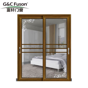 Portello scorrevole di alluminio di marca della Cina di stile moderno superiore della Camera
