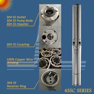 4 polegadas BLDC 1 kw Solar Bomba de Água submersível de aço inoxidável com controlador MPPT