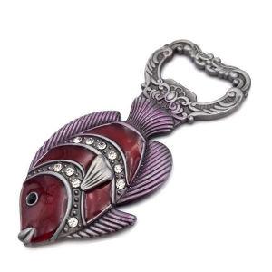 Los peces de metal de forma abridor de botellas artesanales para la venta promocional (029)