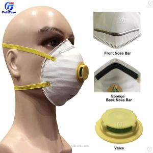 Nonwoven desechables/PP/Asbesto/N95/ FFP3//químico/Respiración de partículas de polen/Seguridad//Gas/pintura/Protección/filtro/mine/madera/polvo/Cara/respirador/máscara