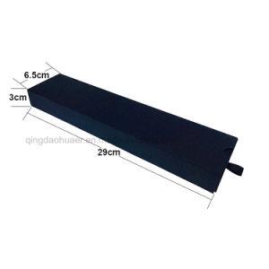 عالة [أم] رفاهية أسود [ببر بوإكس] جلد ساعة [جفت بوإكس] صلبة