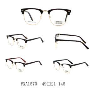 2018 de Nieuwe Optische Frames van de Acetaat van de Rand van het Ontwerp Halve (FXA1570)