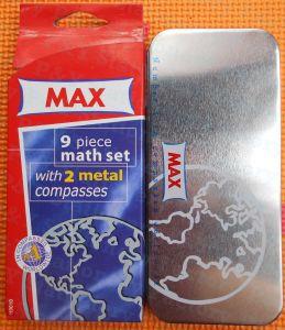 최대 수학은 9개 피스 수학 고정되는 주석 상자 수학 세트를 놓았다