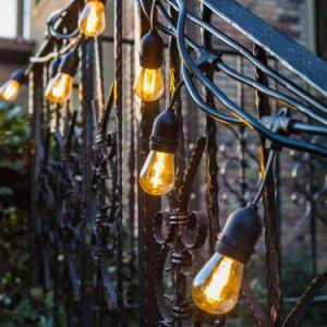 24ft cadena impermeable al aire libre de las luces LED de luces patio trasero de la luz de la cadena comercial
