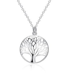 As mulheres de moda Árvore oca de vida jóias pingente de árvore de vida pendente com Filete Colar Jóias Acessórios de Moda Jóias