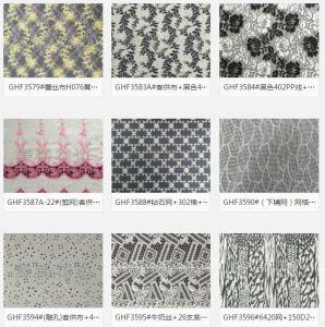工場販売の方法デザイン3D刺繍の花のギピールレースのレースファブリック綿