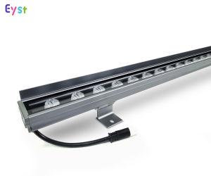 전문 건물 LED 조명 프로젝트 방수 LED 조명 바 IP65 24W DMX512 시스템 컨트롤 RGB 색상 장화 LED 벽 와셔