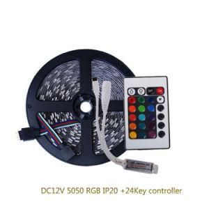 Cc12V 5050 tira de LED RGB con 24Controlador LED RGB clave