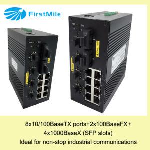 Гигабитный Управляемый коммутатор Ethernet передовых промышленных ВТС 740