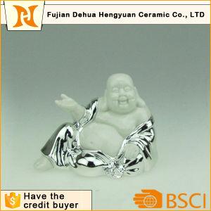 Plating Budismo Prata Figurine para decoração