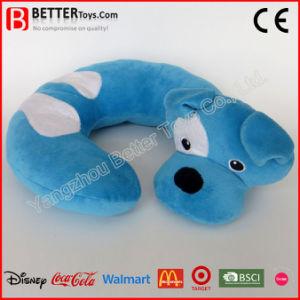Corsa a forma di U Neckpillow del giocattolo del cane dell'animale farcito della peluche