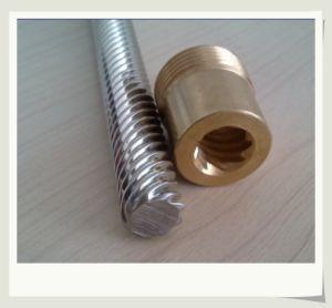 Cable de acero inoxidable 316 de la varilla roscada de tornillo con tuerca de latón