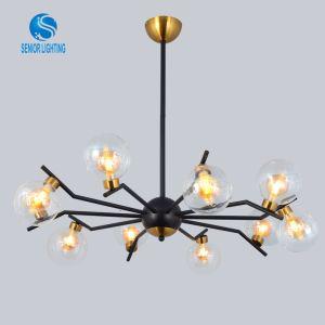 Professional Fabricant populaires bulle de verre E27 de luxe maison moderne lustre de lumière LED moderne