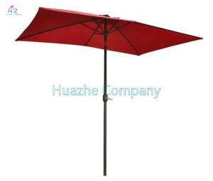 2x3m carré LED Jardin patio parapluie parapluie Parapluie parapluie Parapluie LED solaire extérieur