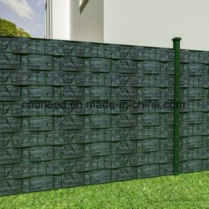 Rete fissa del giardino dello schermo della striscia del PVC di Schiefer-Optik di buona qualità
