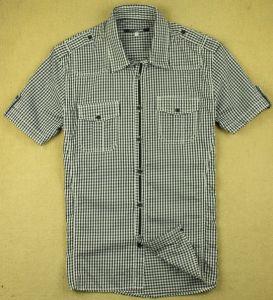 Camicia del PC della casella del manicotto di Short dell'indumento di modo degli uomini