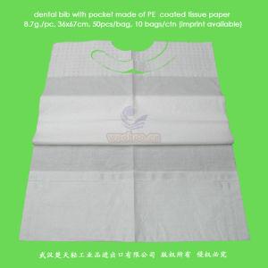 Tecido + PE descartáveis avental de paciente