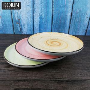 Autocollant de plaque de plaques rondes dîner durables Restaurant&Utilisation d'accueil