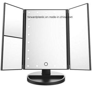 صدق [بسكي], [وك], [سقب], [ول-مرت] مصنع [تري-فولد] يشعل تفاهة بنية مرآة 21 [لد] أضواء, [تووش سكرين] [3إكس/2إكس/1إكس] تكبير مرآة