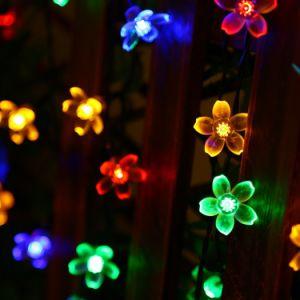 50 Cadena de LED de Energía Solar jardín al aire libre de la luz de navidad de parte de las luces de la decoración del árbol de hadas