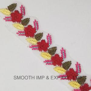 2018 il ricamo del fiore di modo 3D colora il testo fisso del merletto della tessile del tessuto