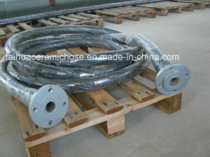 High Wearproof Ceramic Flexible Hose with Flange Fitting