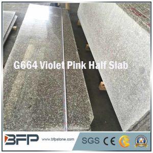 床タイルの建築材料のためのすみれ色のピンクの花こう岩の半分の平板