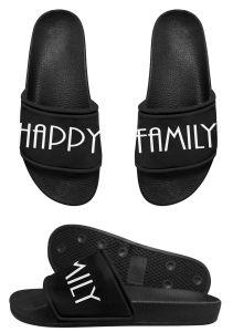 Sandalia de la diapositiva del llano de EVA, deslizador de encargo de los hombres de la sandalia de la diapositiva de la insignia del PVC del Mens de la sandalia negra de la diapositiva