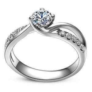 Ring Van uitstekende kwaliteit van de Juwelen van de Liefde van de manier de Mooie Echte Zilveren