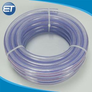 Flexíveis de PVC transparente de fibra de poliéster reforçado trançado com tubo de borracha de água do ar