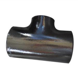 T nero dell'uguale della vernice degli accessori per tubi del acciaio al carbonio