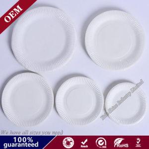 Matériau naturel de qualité alimentaire Restaurant Parti de la plaque de 6 pouces de papier jetable