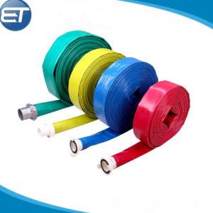 Manguera de descarga de agua Layflat PVC / Luz disposición plana la manguera de PVC