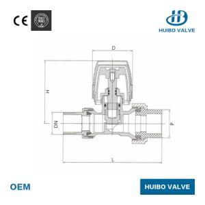 Padrão de reta da válvula do radiador com certificado CE Manual