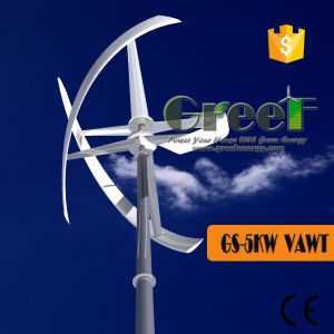 5kw generador eólico de eje vertical en el sistema de rejilla con el controlador&Inversor