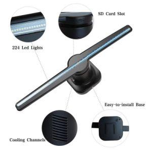 Голограмма LED вентилятор, голографической электровентилятора системы охлаждения двигателя, 50см LED вентилятор голограмма на размещение рекламы