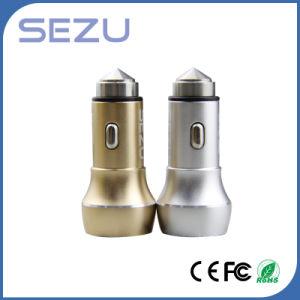 Caricatore Emergency dell'automobile del martello di sicurezza del metallo con il USB doppio per i Mobiles