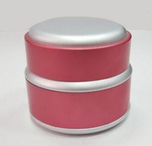 クリーム、装飾的な包装のための新しいデザインアルミニウム瓶の装飾的なプラスチック瓶