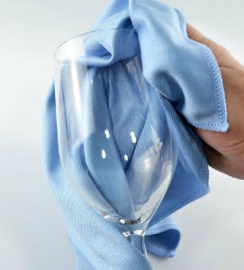 Chiffon en microfibres de verre/ Serviette de nettoyage