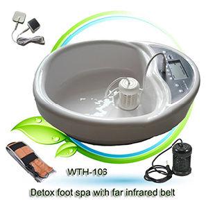 Detox spa para pies con la gran pantalla LCD, saldos sendas de energía dentro del cuerpo (Panel de control) con-106